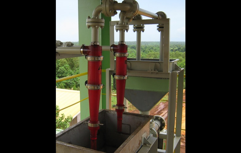 3 inch Hydrocyclones on test in the Far East